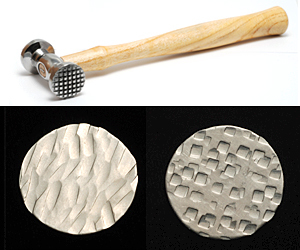 Jewelry Making Tools Double Faced Texture Hammer Checkered/Wide Stripes
